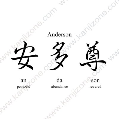 Anderson in Japanese