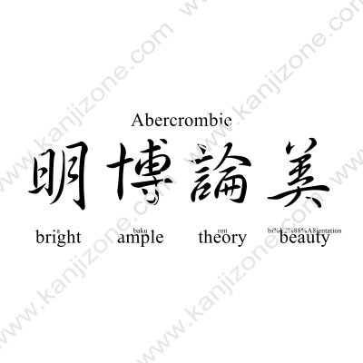 Abercrombie in Japanese