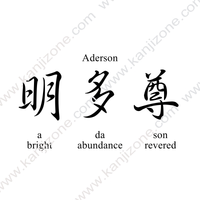 Aderson in Japanese