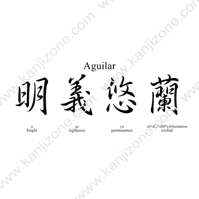 Aguilar in Japanese
