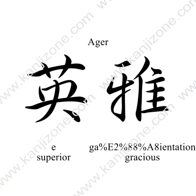 Ager in Japanese